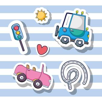 Ustaw łaty elementów transportowych i drogowych