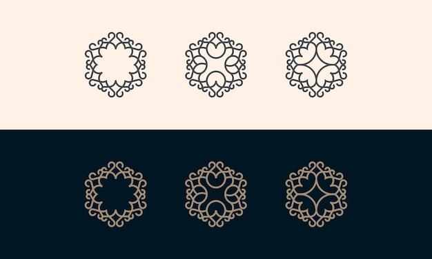 Ustaw linię logo kolekcji logo dekoracji