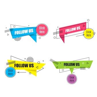 Ustaw liniowy tag mediów społecznościowych
