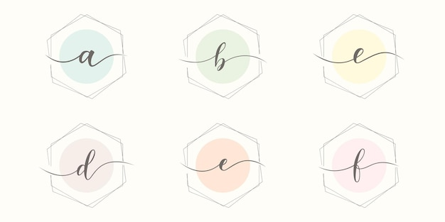 Ustaw list początkowy minimalistyczny szablon logo