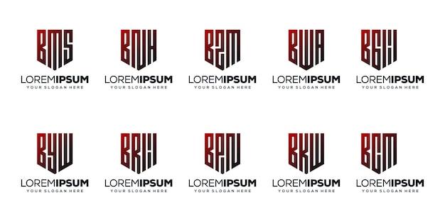 Ustaw literę pakietu i projekt logo