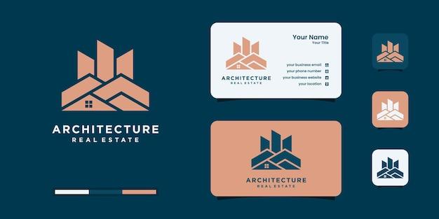 Ustaw logo architektura budynek budownictwo szablony projektów nieruchomości