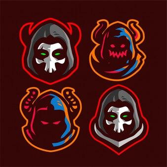 Ustaw logo e-sport grim reaper