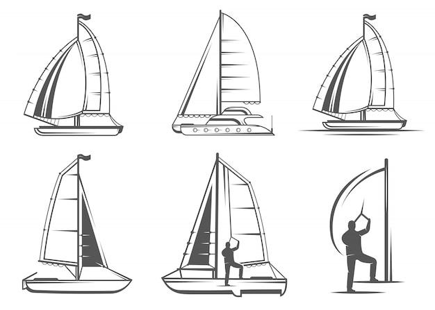 Ustaw logo i odznaki katamaranu
