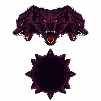 Ustaw logo maskotki cerberus