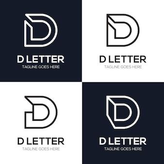 Ustaw luksusową początkową literę d ilustracja logo dla twojej firmy