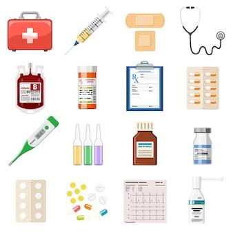 Ustaw medyczne ikony