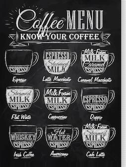 Ustaw menu kawy