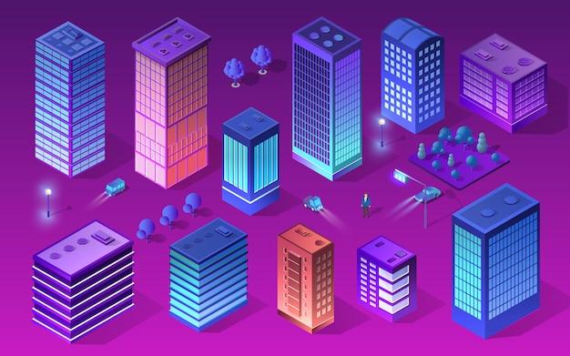 Ustaw miasto w stylu ultrafioletowym