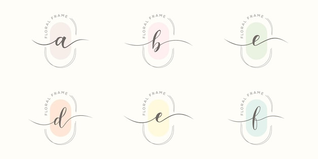 Ustaw minimalistyczny szablon logo litery b