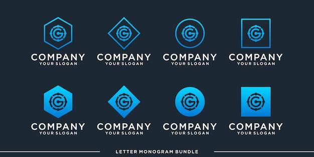 Ustaw monogram g logo
