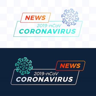 Ustaw nagłówek najświeższe wiadomości covid-19 lub coronavirus. koronawirus w ilustracji wuhan.
