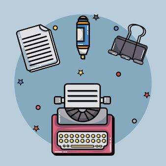 Ustaw narzędzie biurowe na raport z informacjami o firmie