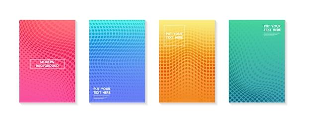 Ustaw nowoczesne gradienty w abstrakcyjnych zachodach i wschodzie słońca, rozmyte tło morza, rozmyte szablony kwadrat rozmazany