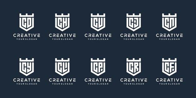Ustaw nowoczesny projekt logo litery c