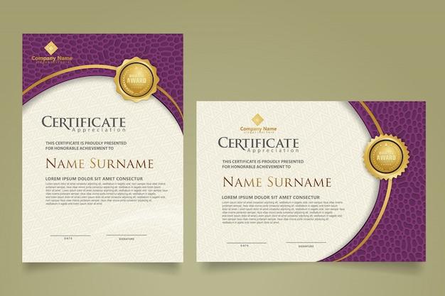 Ustaw nowoczesny szablon certyfikatu