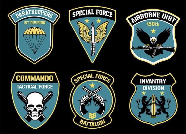 Ustaw pakiet odznak jednostek wojskowych