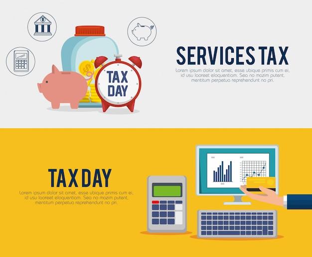 Ustaw pasek statystyk biznesowych za pomocą laptopa i datafonu