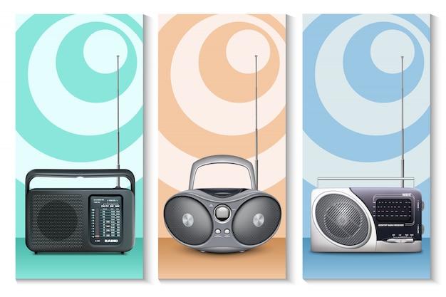 Ustaw pionowy baner dla radia światowego