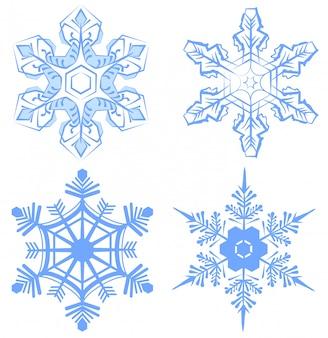 Ustaw płatek śniegu. płatek śniegu