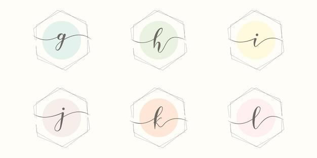 Ustaw początkowy minimalistyczny szablon logo listu