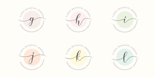 Ustaw początkowy minimalistyczny szablon logo z literą