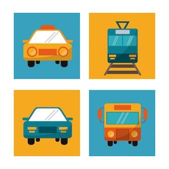 Ustaw podróż wakacyjną pojazdu transportowego