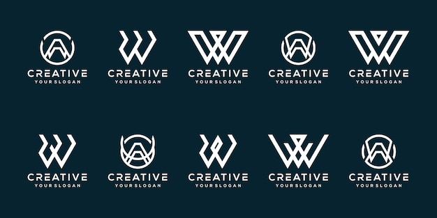 Ustaw projekt logo litery w pakiet