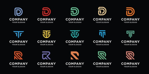 Ustaw projekt logo litery