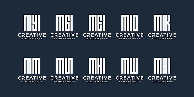 Ustaw projekt logo na literę m