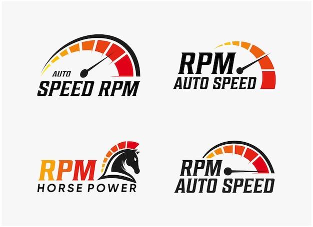 Ustaw projekt logo prędkości rpm pakietu