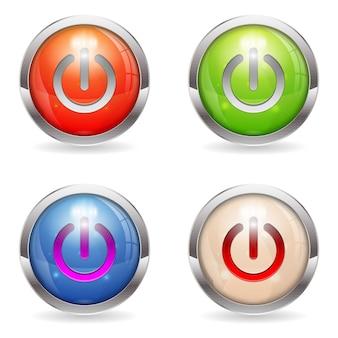 Ustaw przycisk połysku za pomocą przełącznika