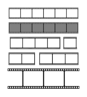 Ustaw pustą ilustrację ramki pasków filmu