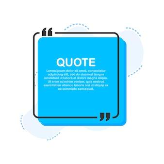 Ustaw ramki cytatów pusty szablon z cytatami z projektu informacji o druku