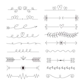 Ustaw ręcznie rysowane typy ramek i przekładek