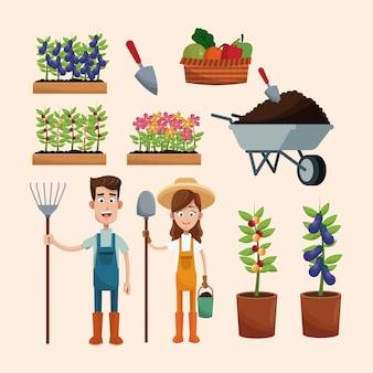 Ustaw rolnikom rośliny taczki