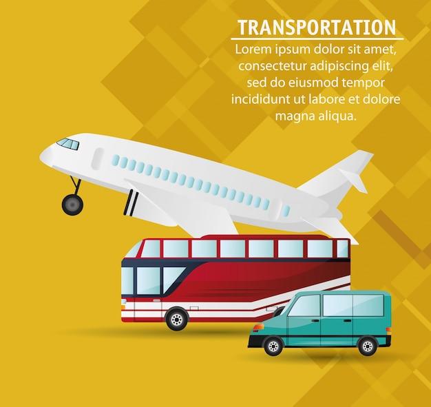 Ustaw różne środki transportu publicznego