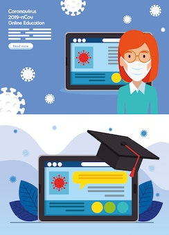 Ustaw sceny edukacji online dla 2019-ncov