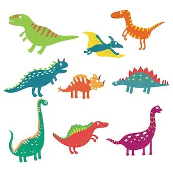 Ustaw słodkie dinozaury