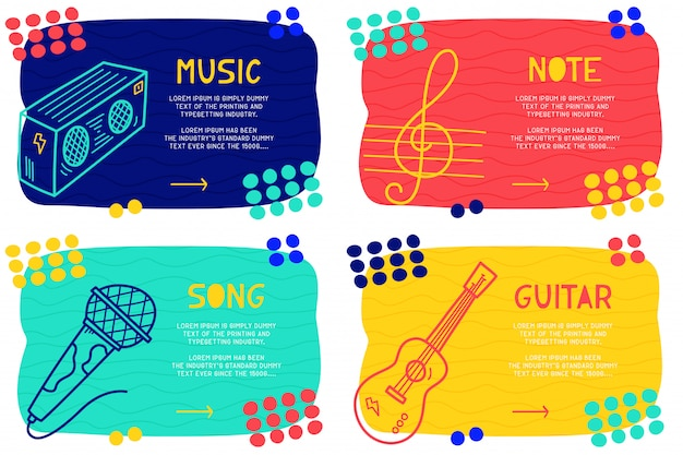 Ustaw streszczenie muzyka doodle