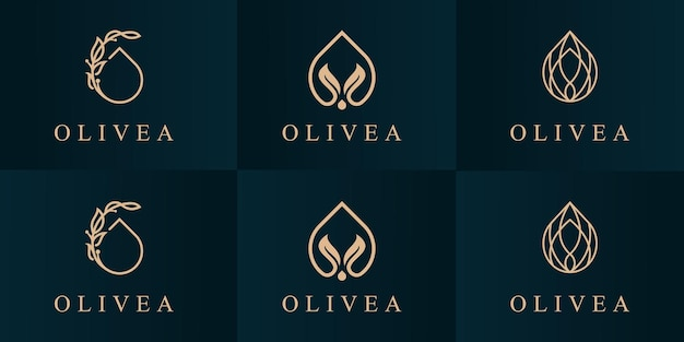 Ustaw szablon projektu logo oliwy z oliwek.