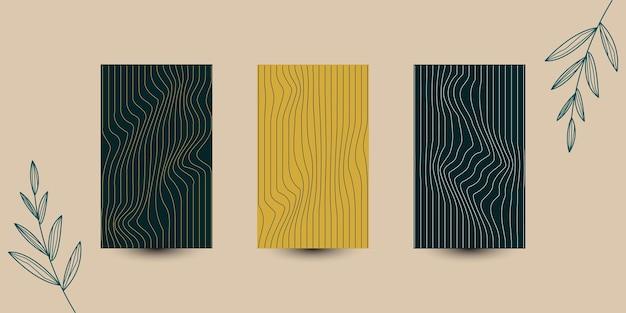 Ustaw szablon tła tekstury drewna okładka projekt