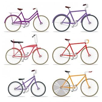 Ustaw transport rowerowy z płatkiem i łańcuchem
