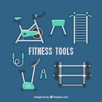 Ustaw wyposażenie siłowni w płaskiej konstrukcji
