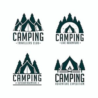 Ustaw wyprawę logo camping adventur
