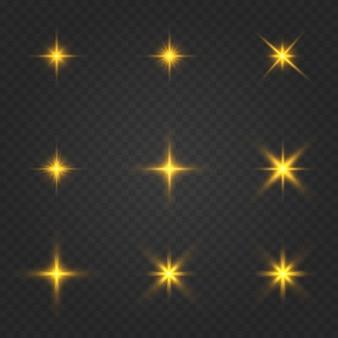 Ustaw złote świecące gwiazdy.