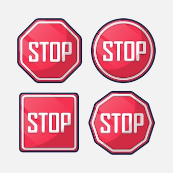 Ustaw znak stop. kreskówka