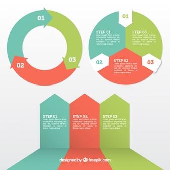 Ustawić elementy infographic