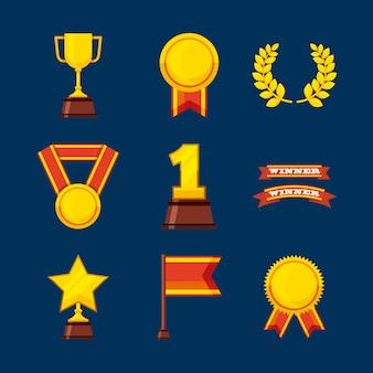 Ustawić nagrody ikony mistrzostw