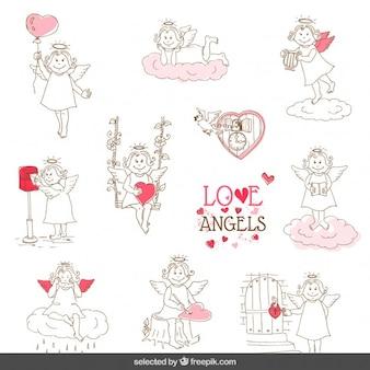Ustawić piękne anioły